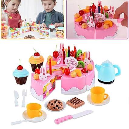 Amazon 54pcs Play Birthday Cake Childrens Day Gift Food