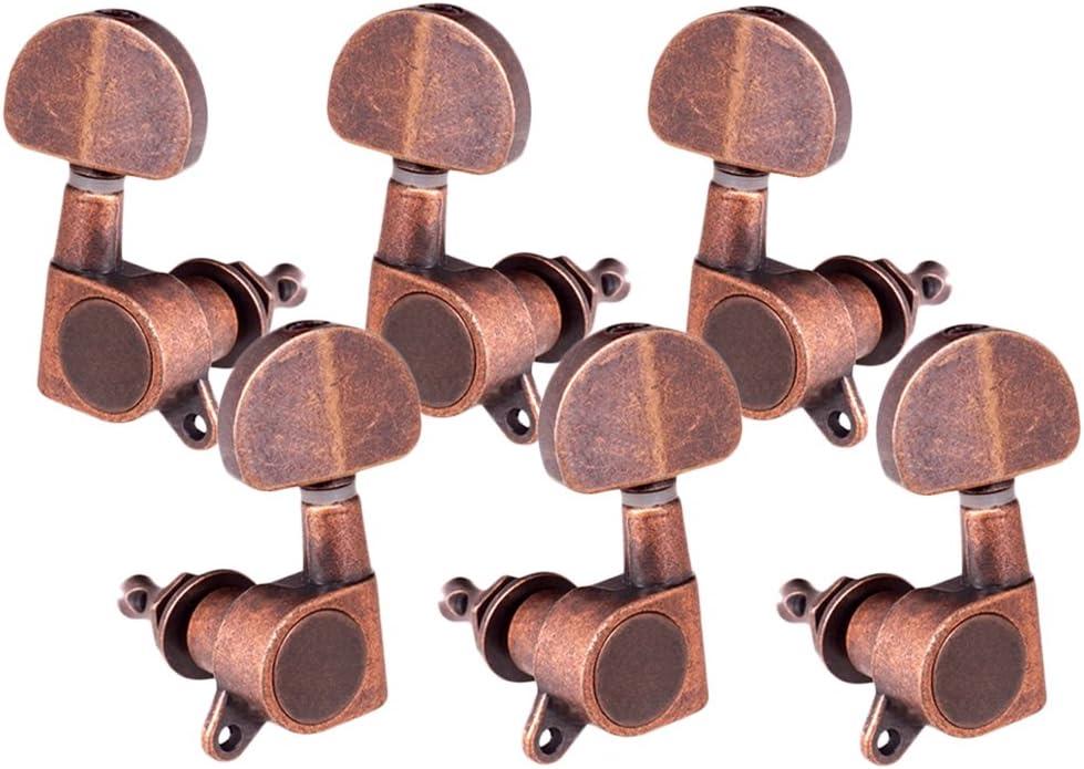 Afinación de Guitarra Acústica Peg Tuner Cabeza de Máquina Redonda para Guitarra Eléctrica 3R3L