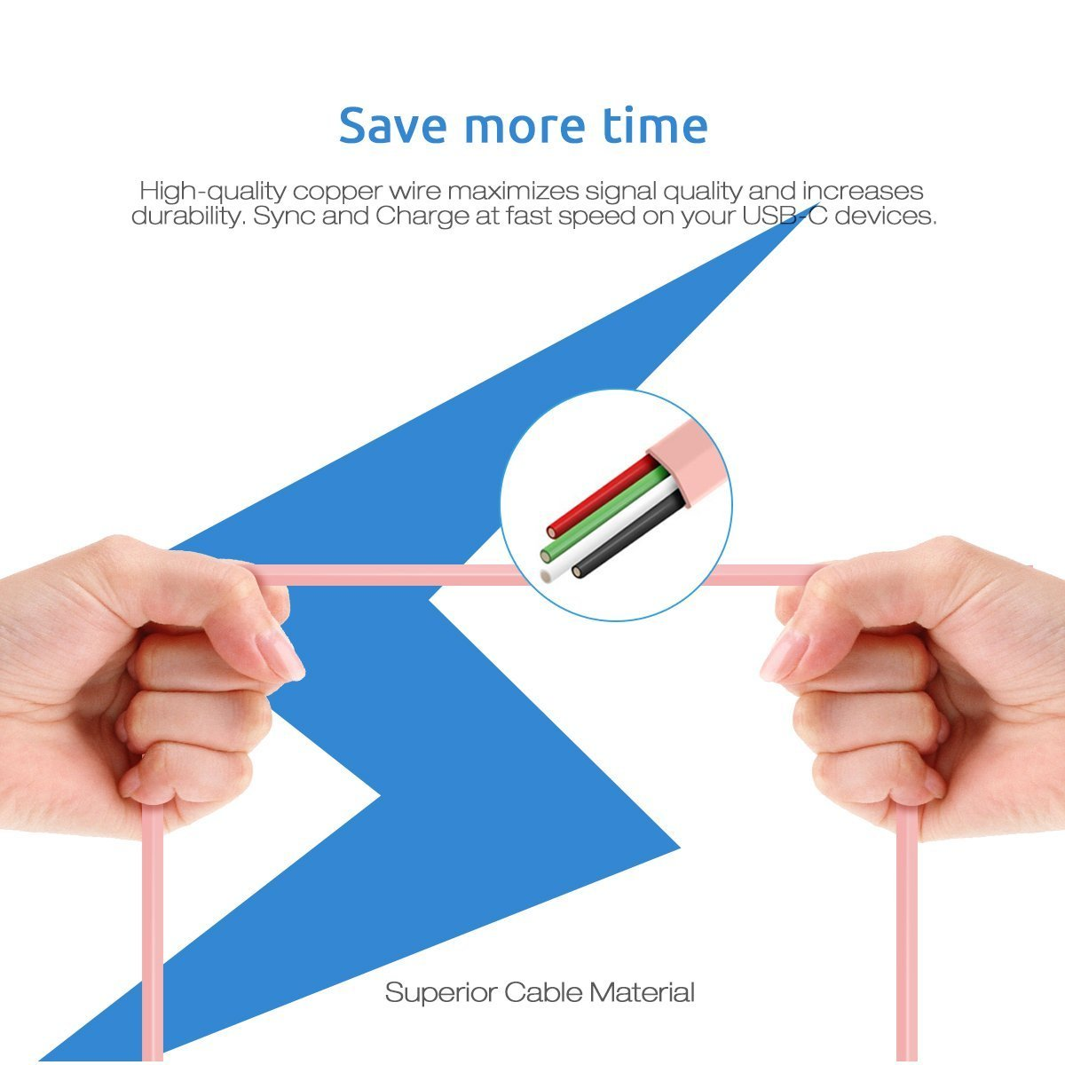 Usb Type C Cable Pink Pisen To 3ft Usbc Wiring Diagram Durable Flat Fast Charger Cord For Samsung Galaxy Note 8 S8 Plus Pixel Xl Moto Z Z2