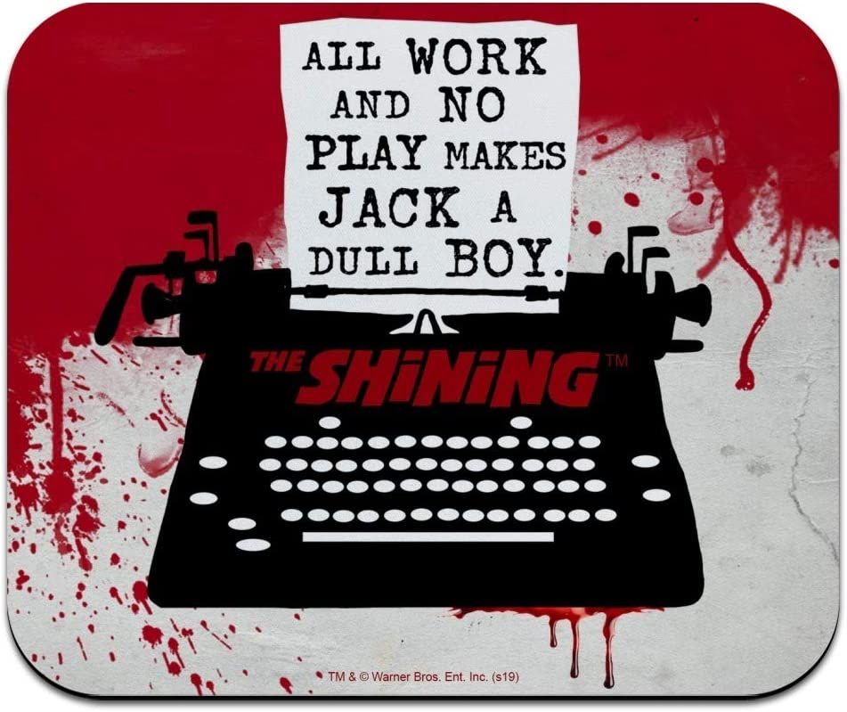 The Shining All Work and No Play Low Profile Thin Mouse Pad Mousepad