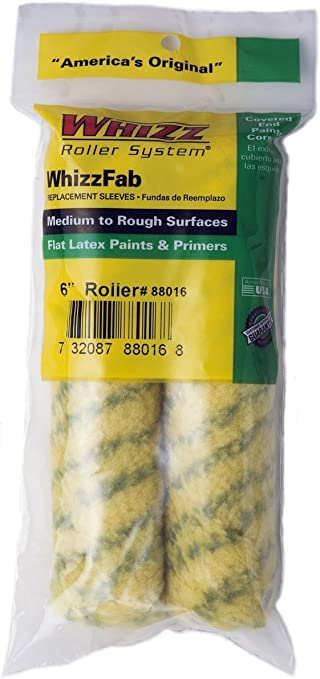 76013 WHIZZ 6INCH MICROFIBER ROLLER COVER 2PACK 1//2/'/' NAP
