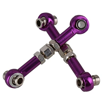 Rear /& Servo Link Fit HSP 1//10 On-Road Car RC 102017(02012)Purple Alloy Front