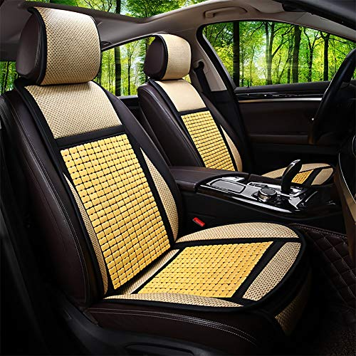 RR-YRC Summer Bamboo Car Seat Cushion, Interior Protection Cool Pad, Wear & Dustproof, Suitable for Most 5-Seat Cars