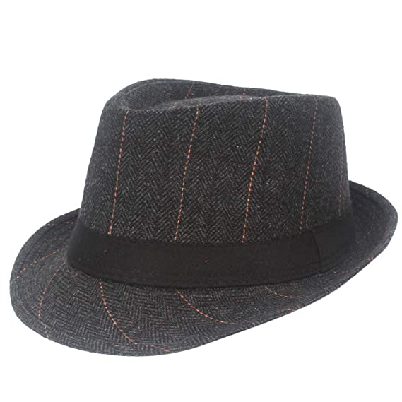 LOPILY Sombrero de Lana para Hombre Sombrero de Hombre a Rayas ...