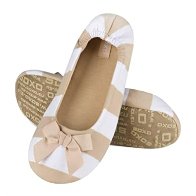0ca3b2f9c2 soxo Elegant Women s Ballerina Slippers with Stripes TPR Perfect   Amazon.co.uk  Shoes   Bags