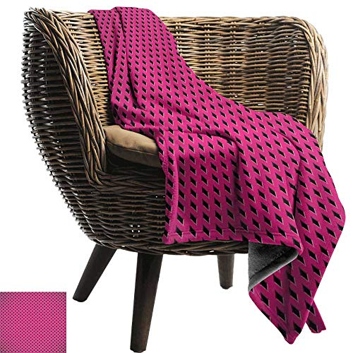 Sofa Cushion Magenta Diamond Line Grill Wire Design Logo Digital Motif Illustration Print Throw Blanket Adult Blanket 84