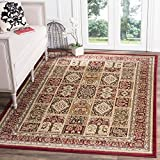 Safavieh Lyndhurst Collection LNH217B Traditional Multi and Red Square Area Rug (8′ Square)
