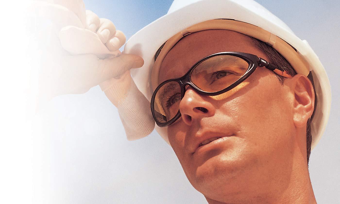 Uvex Cybric Kratzfeste /& Chemikalienbest/ändige Schutzbrille Get/önte Scheibe