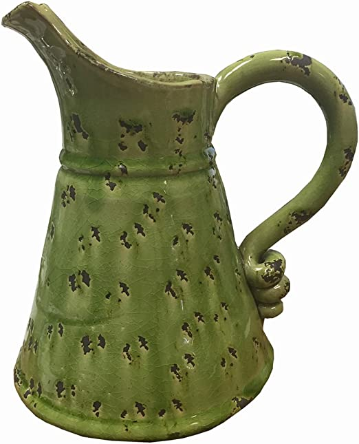 Orange Crackle Pitcher Your Hearts Delight Pottery