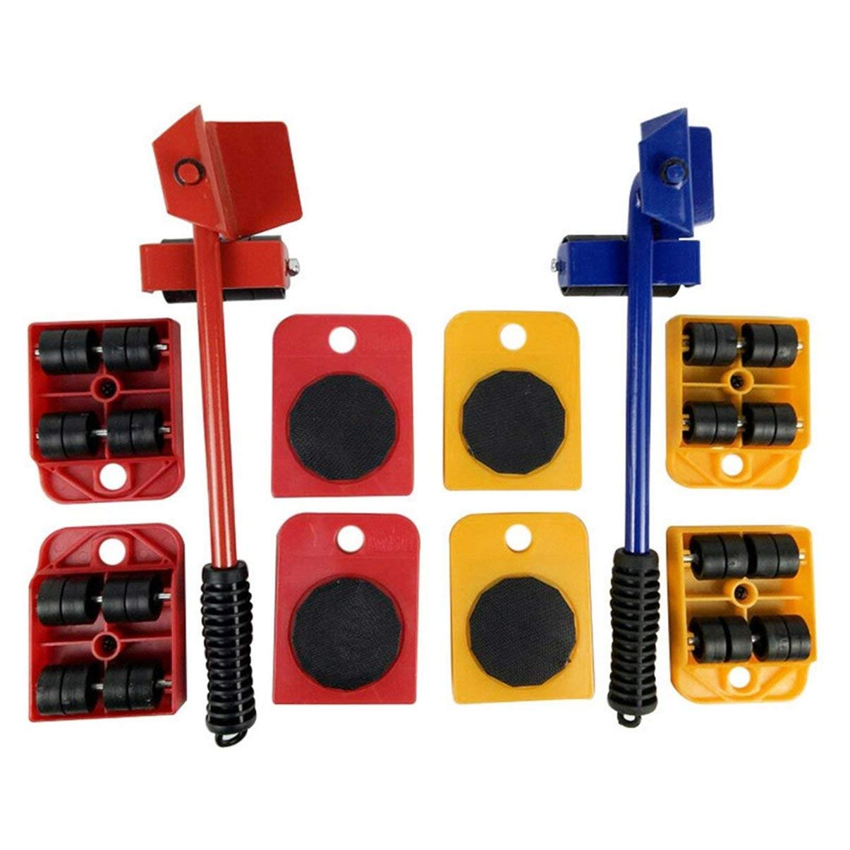 1 Wheeled Lifter 5pcs Furniture Transport Hand Tool Set Furniture Lifter Heavy Mover Rollers 4 Wheeled Corner Movers