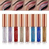 Glitter Liner Set, 8 Colors Long Lasting Waterproof Sparkling Liquid Eyeliner