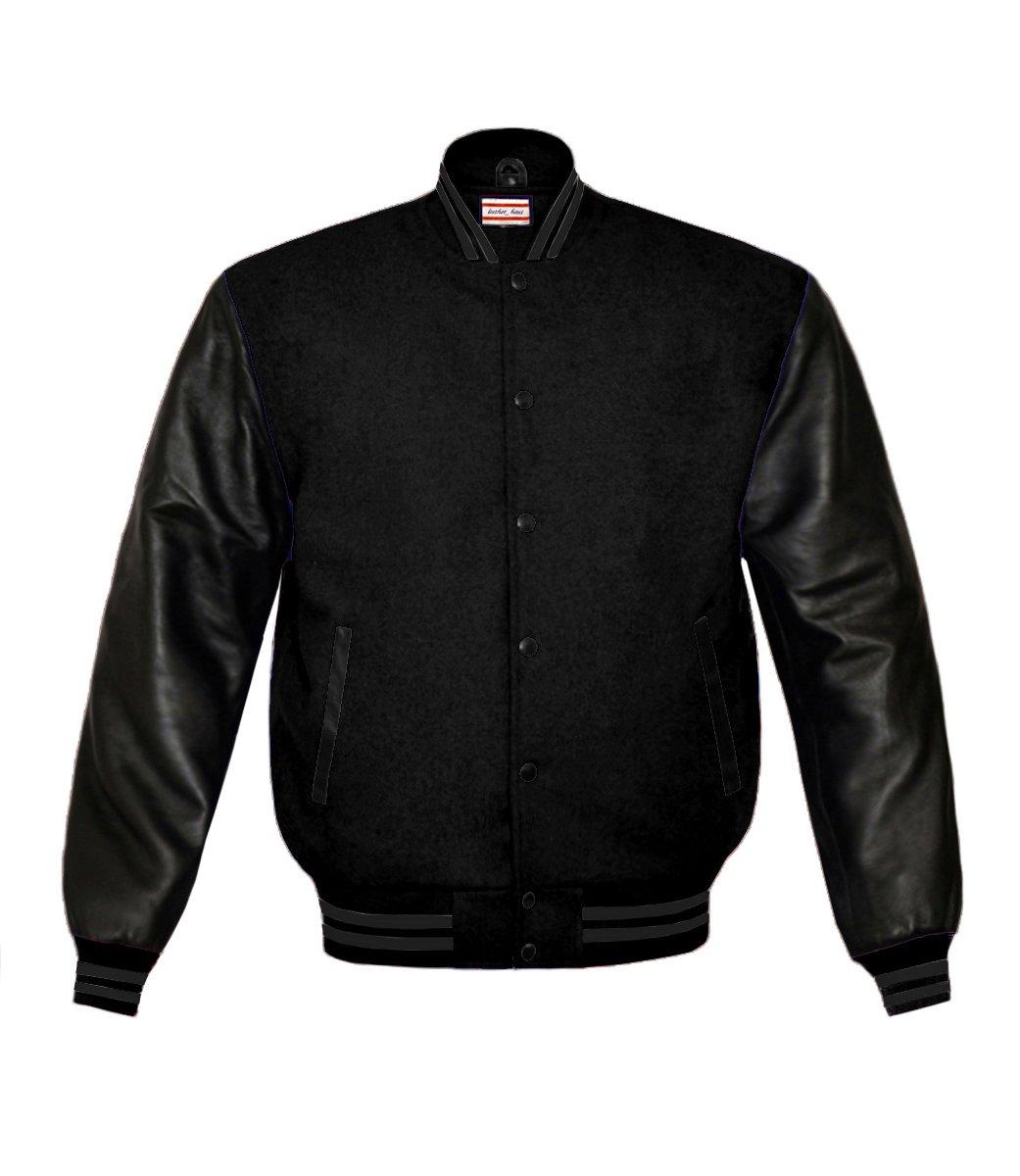 luvsecretlingerie Superb Genuine Leather Sleeve Letterman College Varsity Kid Wool Jackets