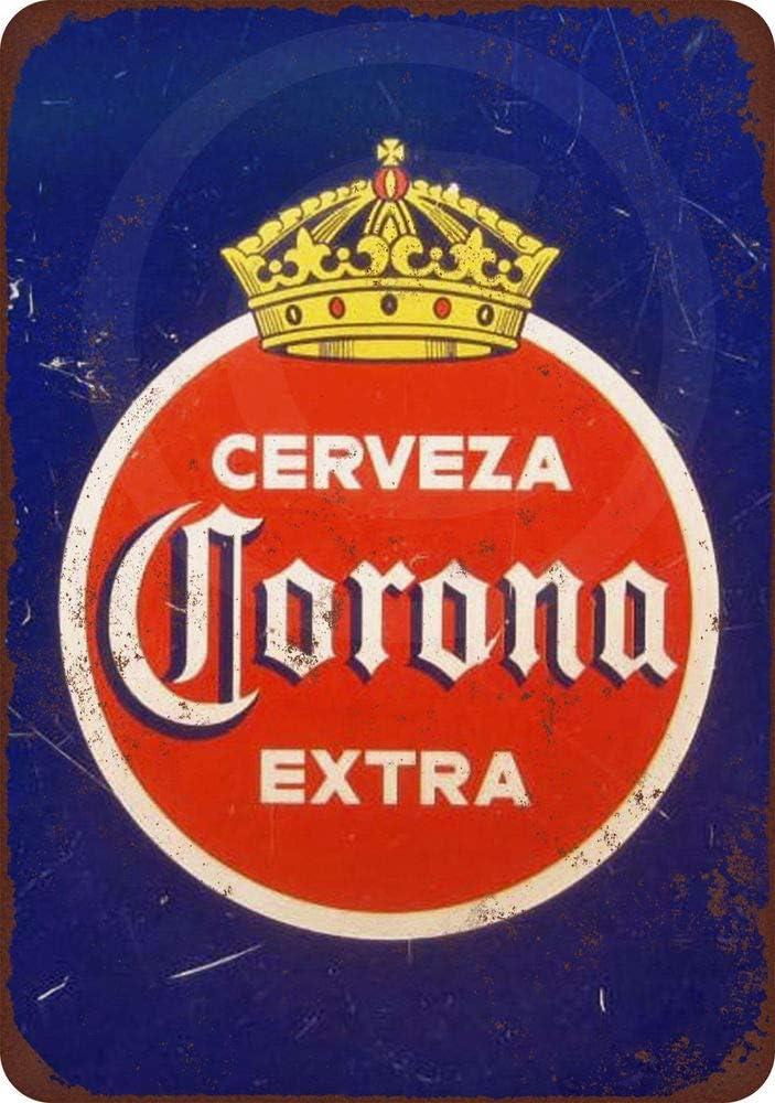 PotteLove 1940 Corona Extra Cerveza Reproducción Metal Cartel Tin 8 X 12