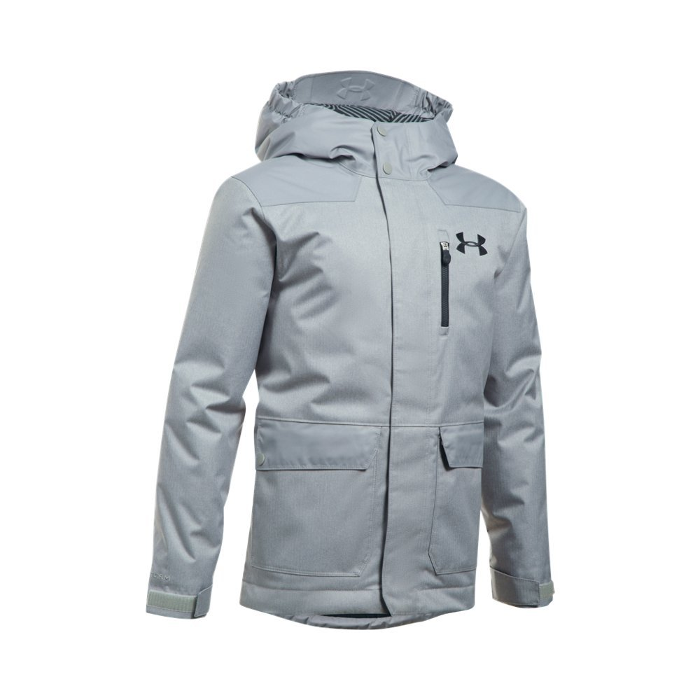 Under Armor Boys' ColdGear Reactor Yonders Parka, Steel/Anthracite, Youth Large by Under Armour
