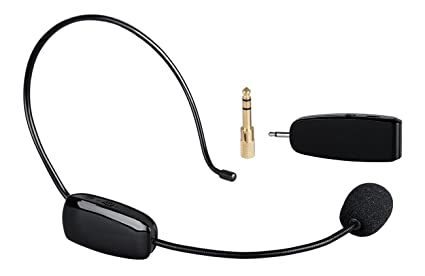 a90dd46948b Sherosa 2.4G Wireless Microphone - Headworn and Handheld 2 in 1 for Voice  Amplifier,