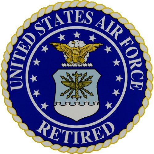 (Air Force Retired with Air Force Seal Decal)