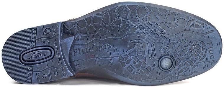 La Valenciana Zapatos para Hombre Fabricados en España de Piel Fluchos 8596 Cuero - Color - Cuero, Talla - 39: Amazon.es: Zapatos y complementos
