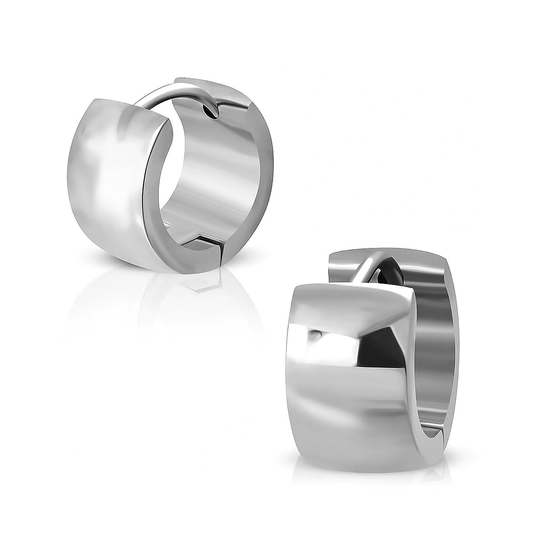Pure316 Women's 7mm | Hoop Huggie Earrings in 316L Stainless Steel - JK-XXE101 Leviev Ltd.