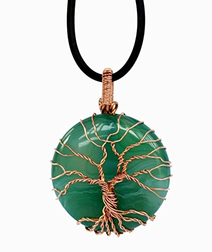 Amazon.com: Hand-Woven Tree Of Life Necklace Copper Wire Wrapped ...
