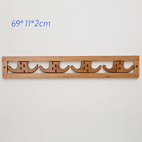 Perchero Colgante de bambú colgante de suspensión de pared ...