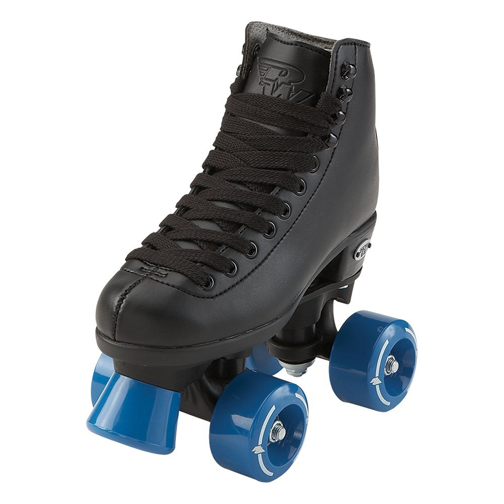 RW Skates - Wave - Kids Quad Roller Skates for Indoor / Outdoor | Black | Size 11 Youth
