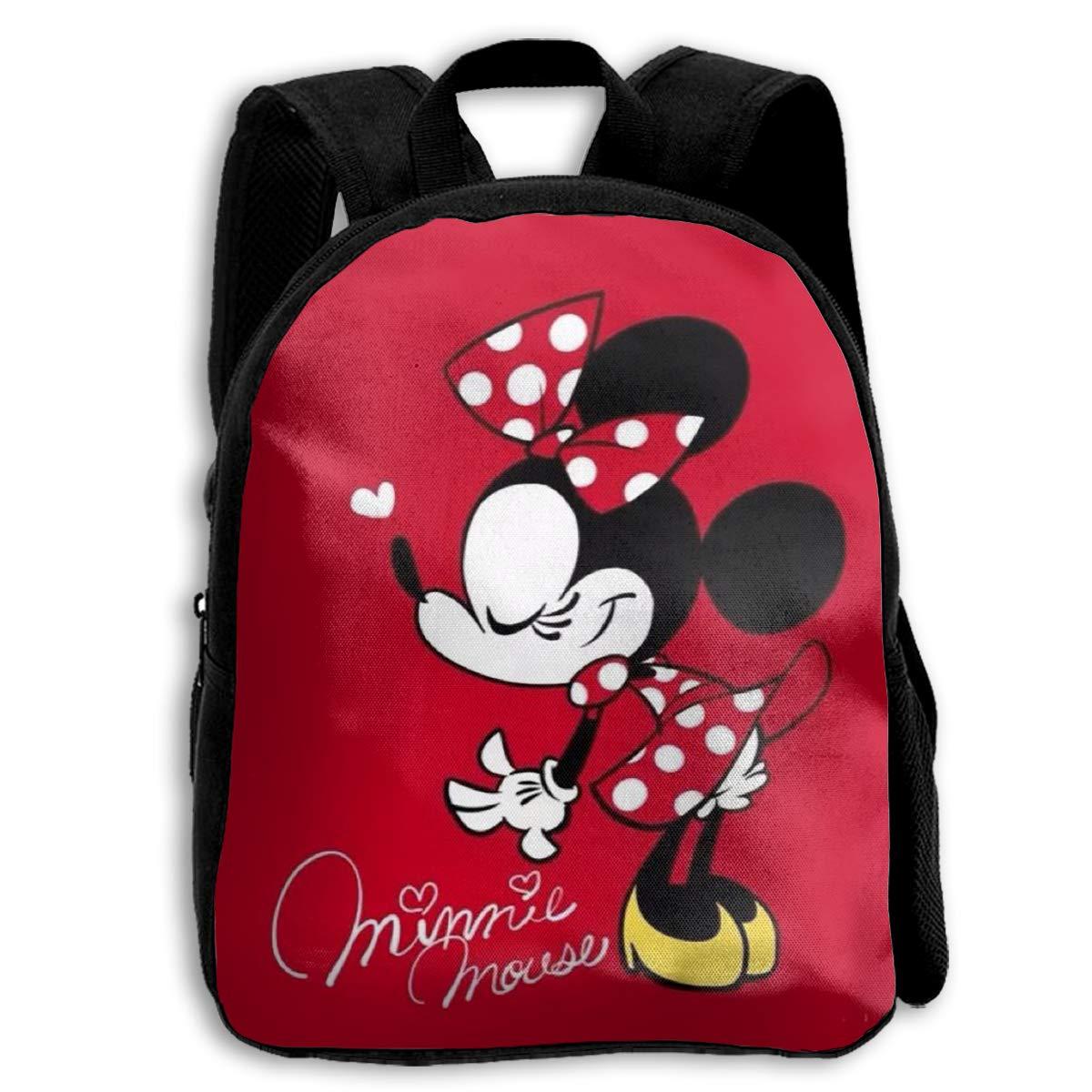 CHLING キッズバックパック 美しいミニーマウスプリント 子供用 スクールバッグ ティーンエイジャー ブックバッグ 男の子 女の子用   B07PWVB733