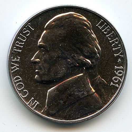 1961 Jefferson Nickel Gem Proof 1961 Jefferson Nickel Proof