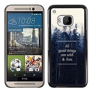 Dragon Case - FOR HTC One M9 - wild and free - Caja protectora de pl??stico duro de la cubierta Dise?¡Ào Slim Fit