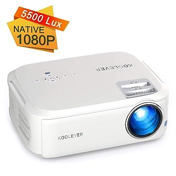 Proyector Full HD, KOOLEVER Nativo 1080P LCD 4500 Lúmenes ...