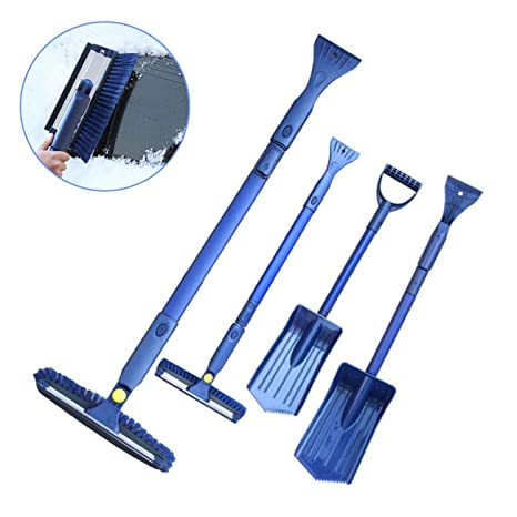 Snow Shovel Kit 3 Piece NEW 3-in-1 Snow Shovel with Ice Scraper and Snow Brush