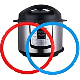 Silicone Sealing Rings for Instant Pot 6 Quart 2 Pack BPA-Free Food-grade Silicone Seal Ring Replacement Accessory for 5…