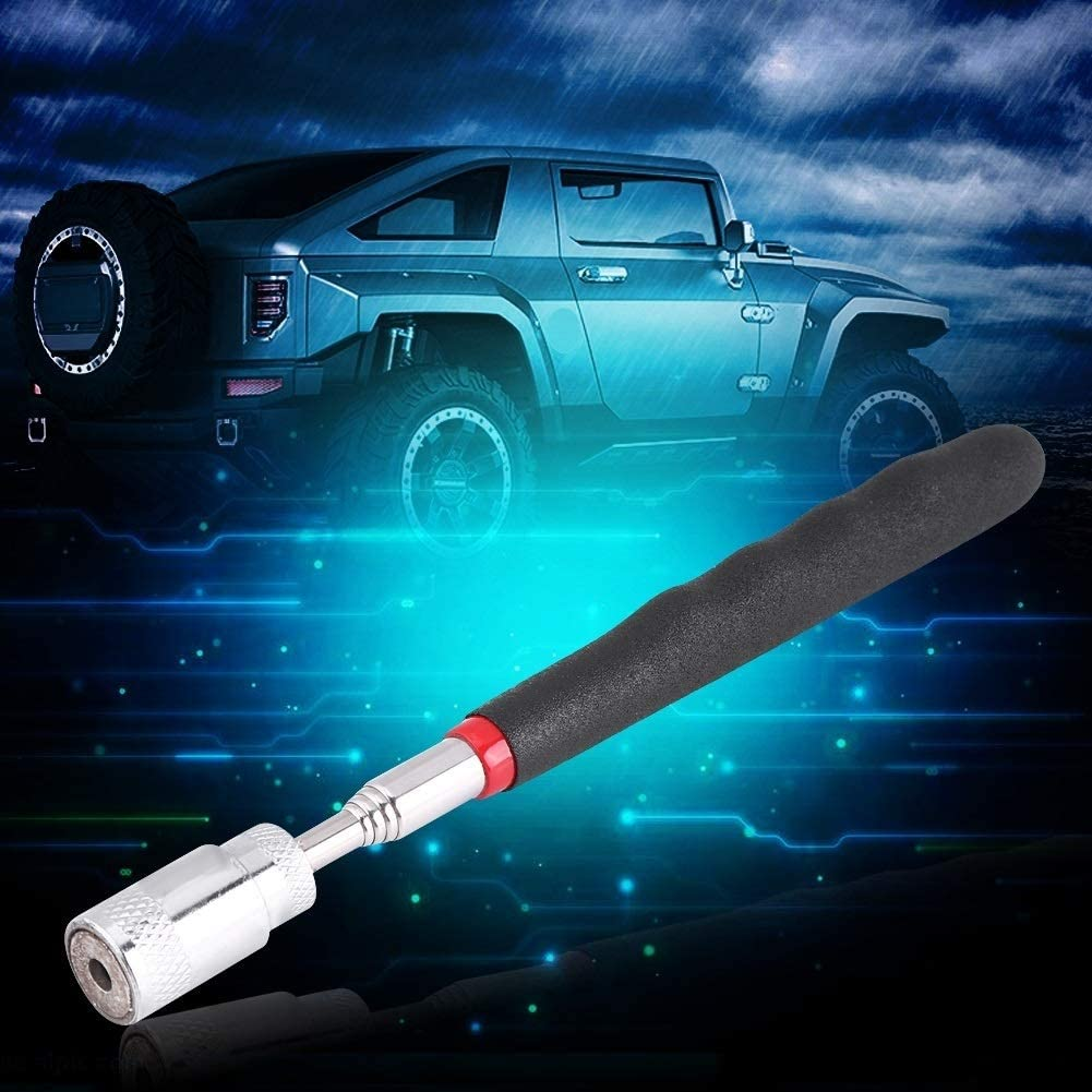 Alupre Telescopic Magnetic Magnet Pick Up Tool with LED Light Compatible With Picking Up Nuts and Bolts
