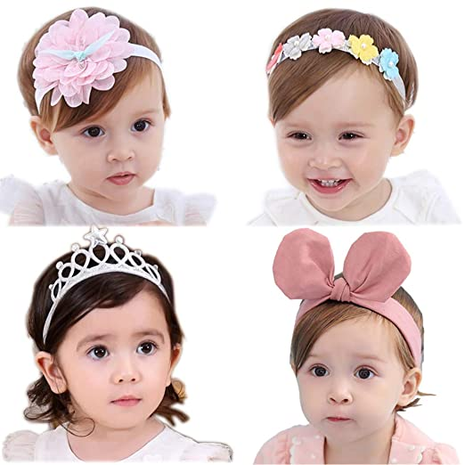 e1d98bf84143f Amazon.com  Baby Girl Headbands Flower