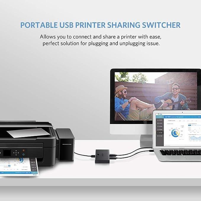 ... 2.0 Switch para Impresoras, Escáneres, Plóteres, Compatible con Windows 10/8/ 7/ XP/Vista, Mac OS 8.6 y una versión Superior (4 entradas y 1 Salida): ...