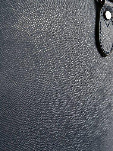 Borsa a tracolla Y Not linea DK BLU tessuto saffiano blu