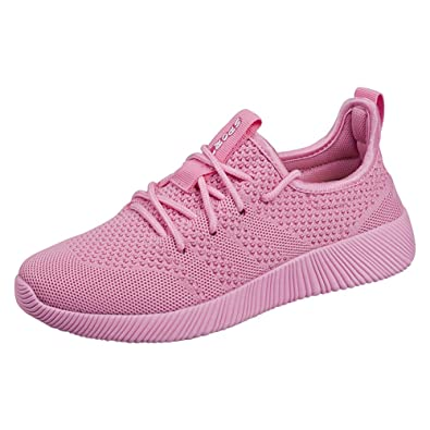 8076e614dd158 Padgene Women's Unisex Lightweight Sneakers Knitted Casual Athletic Outdoor  Running Shoes Sport Gym Walking Shoe