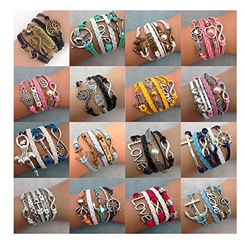 Handmade Braided Layers Vintage Bracelets