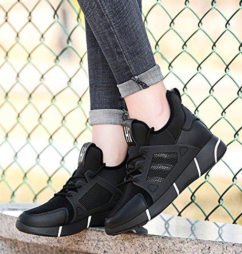 de otoño tamaño 37 Deporte Color Verano de Ocasionales de Zapatos Aumentar Zapatos Corrientes Zapatillas Zapatos Blanco Primavera Las Mujeres 7TX47Ufq