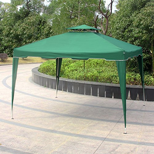Cheap Cloud Mountain Pop up Canopy Tent 10×10 ft Patio Portable Instant Folding Canopy Party Outdoor Canopy with Carry Bag, Hunter Green