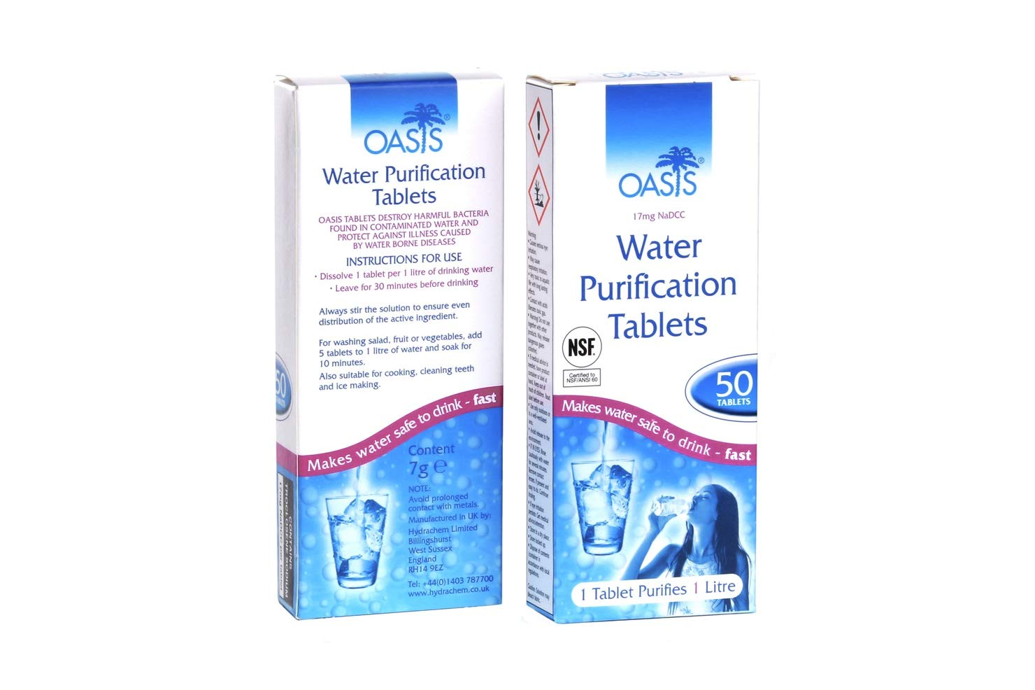 OASIS WATER PURIFICATION TABLETS [2 Packs]: Amazon.es: Deportes y ...
