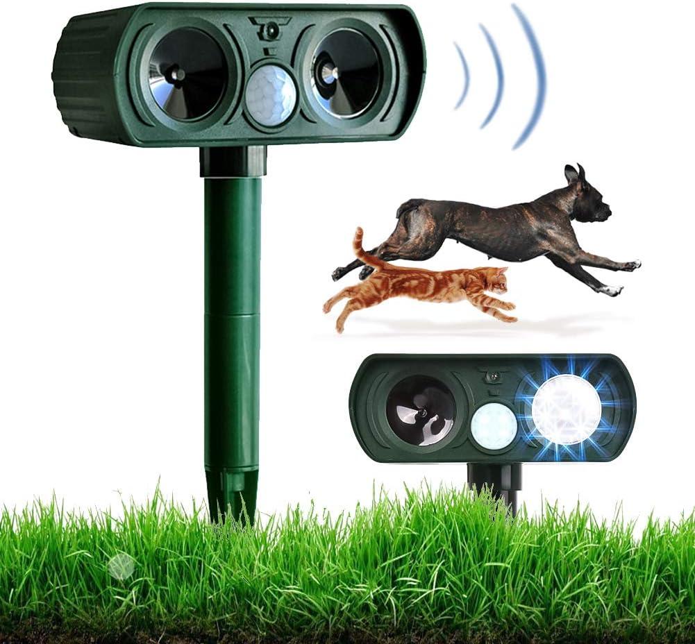 Animal Repeller Cat Repellent Garden Ultrasonic Solar Powered Pet Repeller Cat Dog Fox Pest Deterrent Waterproof Motion Activated Repellent