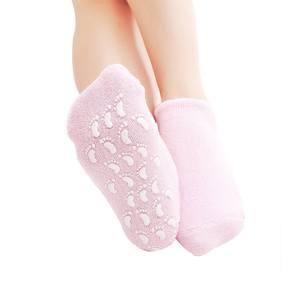 Z-COMFORT Moisturizing spa gel socks helps repair dry cracked skins and softens feet, 0.15 Pound, 618194853458