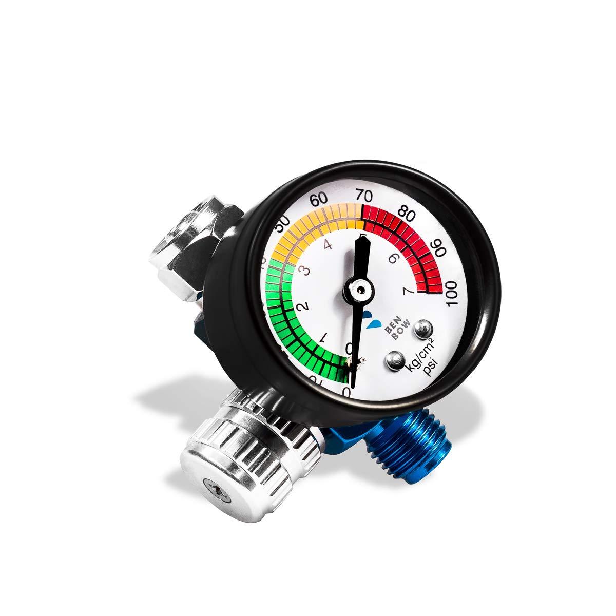 Regulador de presi/ón con man/ómetro para Pistola de Pintura BenBow 600