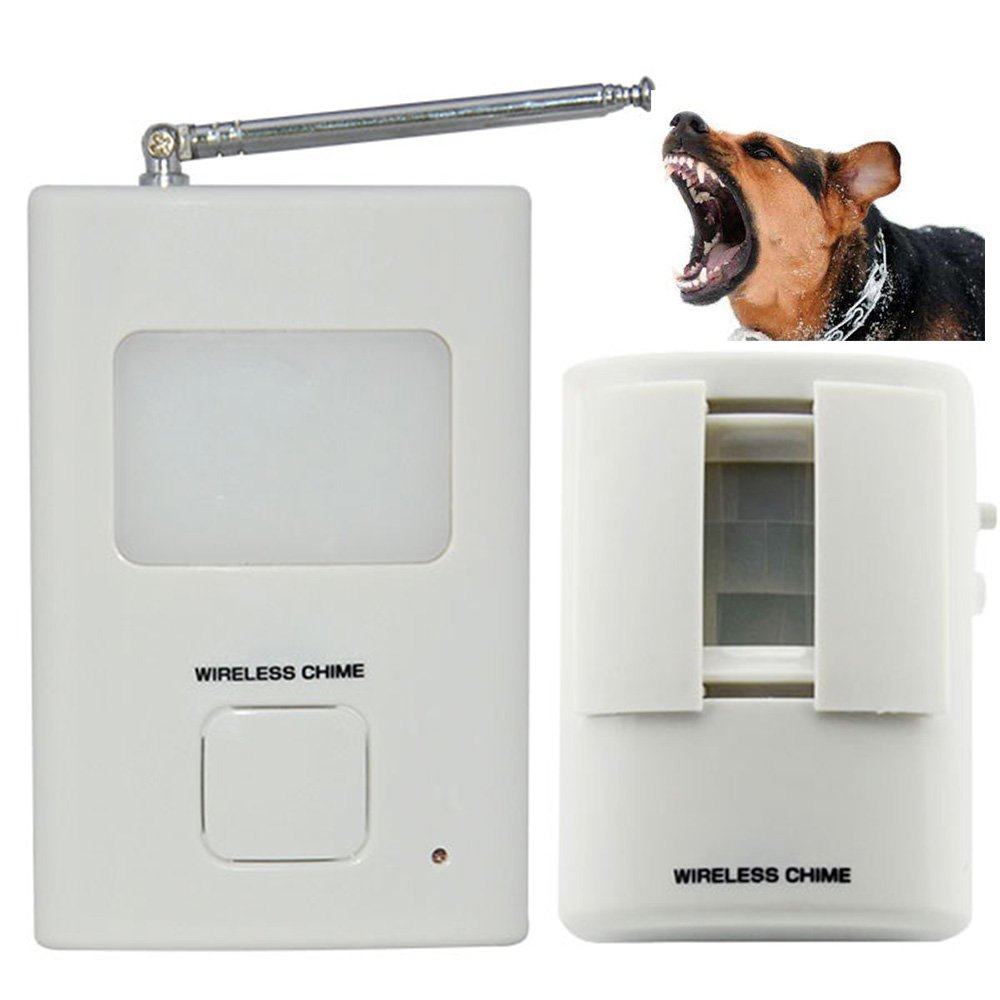 Dog Barking Motion Detector Alarm- Pir Wireless Human Body Sensor Home Security 1Receiver and 1 Sender Alert System for Home or Office Auto DialerSeldorauk (Pack of 1)