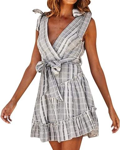 Elegant  Women Colorblock Fit Bodycon sleeveless Cocktail Party Pencil Dress 619