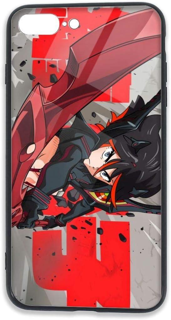SHANGQINGYUN Kill La Kill-Ryuko Matoi Anime/Cartoon/Comic/Gaming TPU Glass Phone Case iPhone 7/8 Plus Case Ultra Thin Slim Fit Soft Silicone