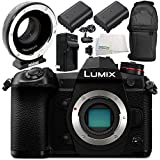 Panasonic Lumix DC-G9 Digital Camera with Metabones MB_SPEF-M43-BT3 Speed Booster XL 0.64x Adapter 7PC Accessory Bundle - International Version (No Warranty)
