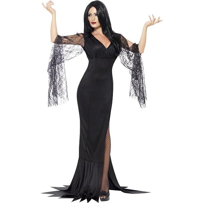 NET TOYS Disfraz Viuda Negra Traje Dark Lady S 36/38 Atuendo ...
