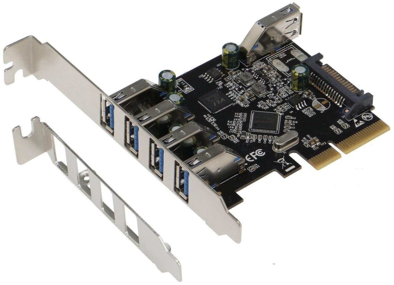 Sedna - PCIe 5 Port (4E1I) USB 3.1 Gen II (10Gbps) Adapter C