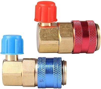 2 Pcs Metal Car High /& Low A//C R134A QC15 Quick Couplers Connectors Adapter Tool